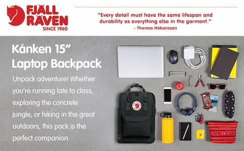 Put a Laptop in Fjallraven Kanken Backpack